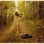 С листа рябины играл скрипач.