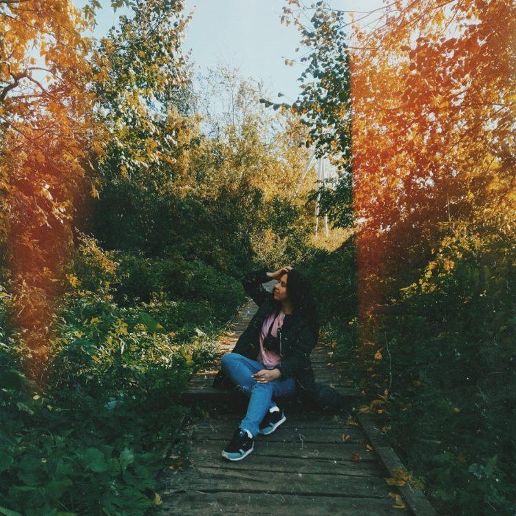 Девушка в парке.